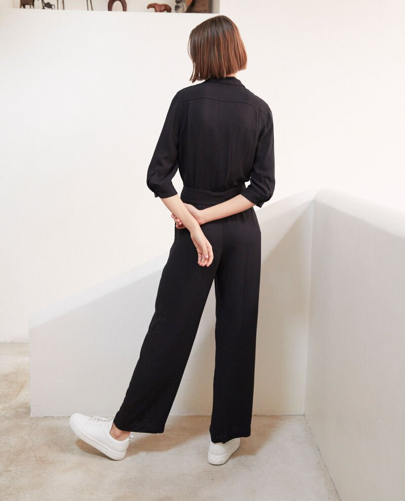 Jumpsuit with lapels Noir Ilorance