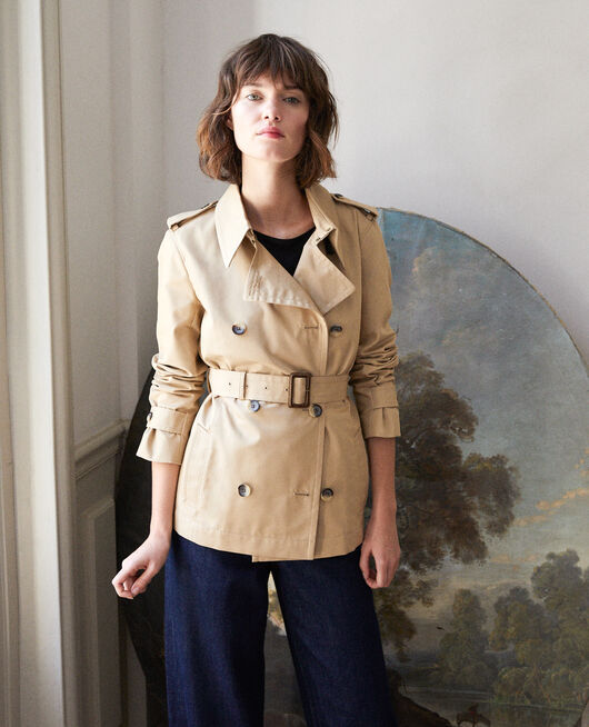 Short trench coat Beige