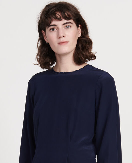 Embroidered blouse MARITIME BLUE