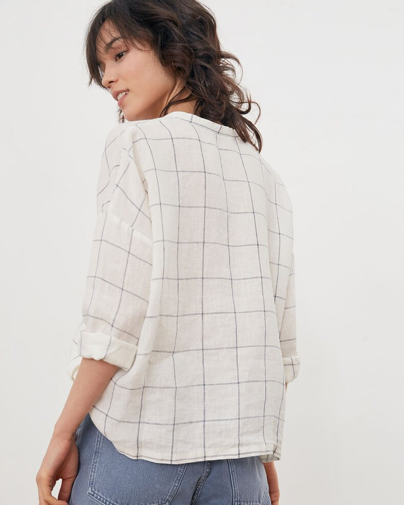 Linen blouse Off white Fairplay