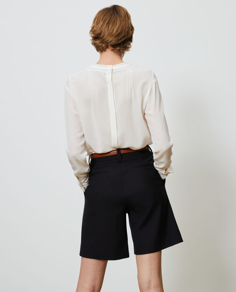 Loose silk and lace blouse Gardenia Nargut