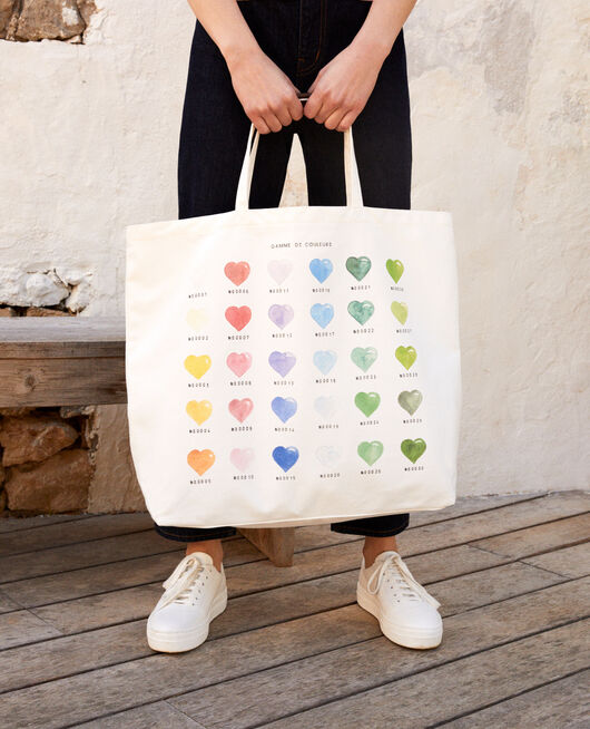 Large tote bag COEUR MULTI