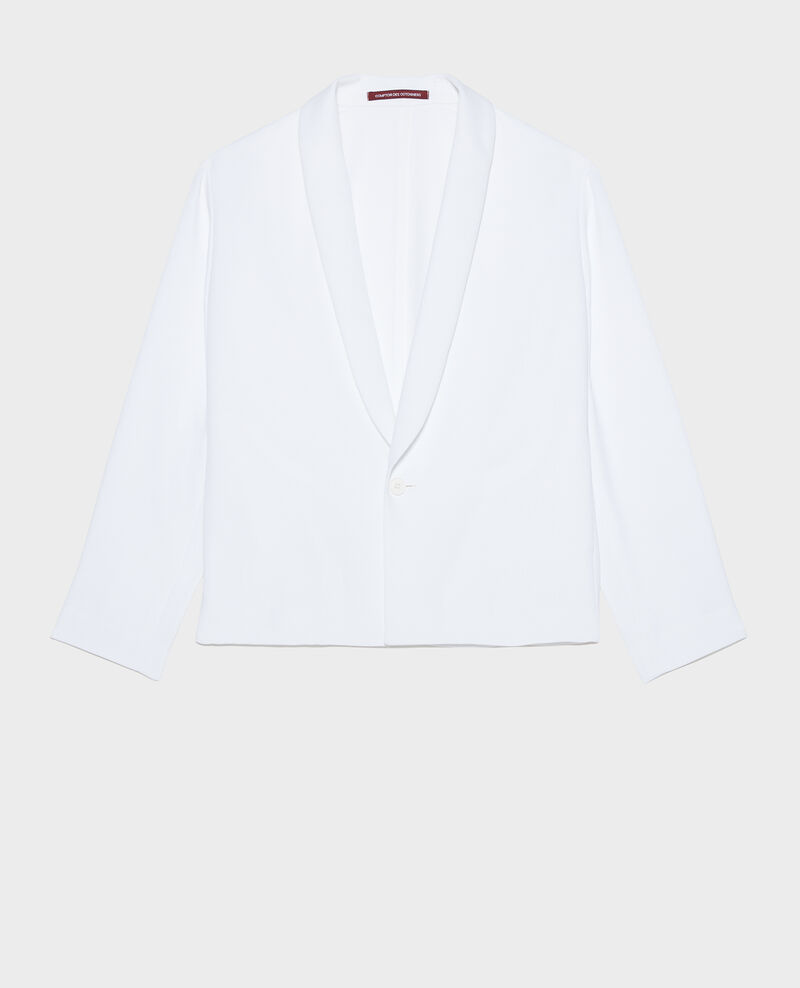 Loose polyester blazer Optical white Levibal