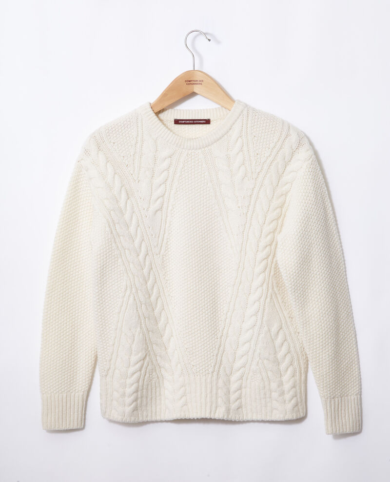 Jumper with cable stitch details White Goonies