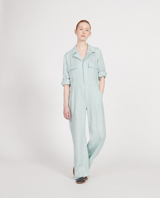 Linen jumpsuit BLUE HAZE