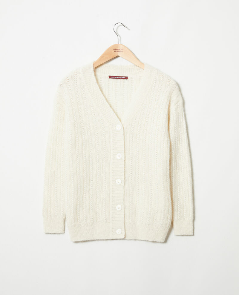 Novelty knit cardigan Buttercream Jaro