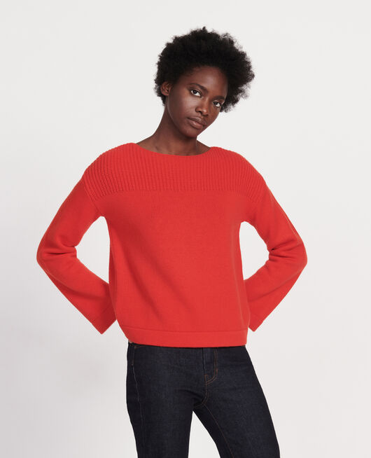Wool and cashmere jumper FIERY RED