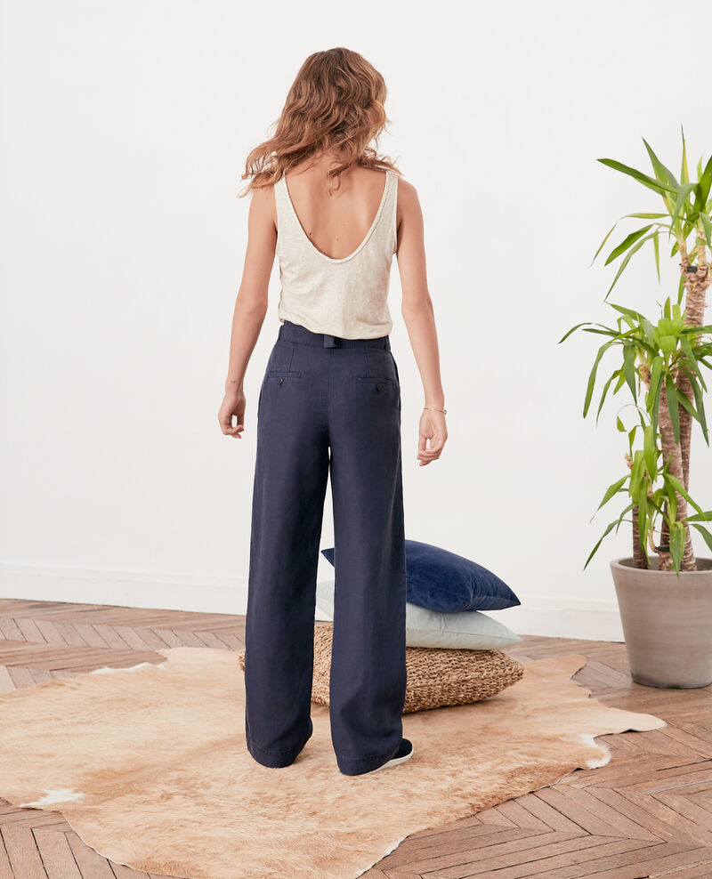 Wide trousers Navy Figuerie