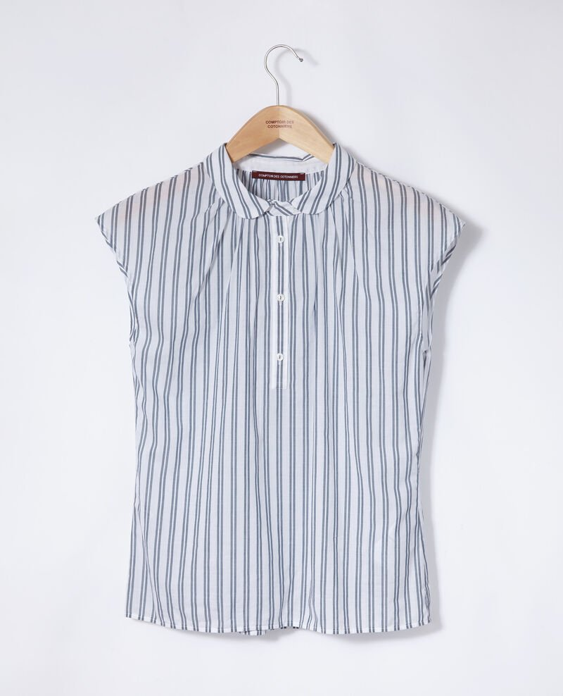 Shirt with round collar Blue Garconne