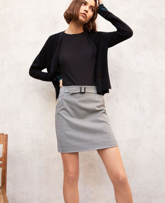 Mini skirt with buckle CHAMPAGNE/NOIR