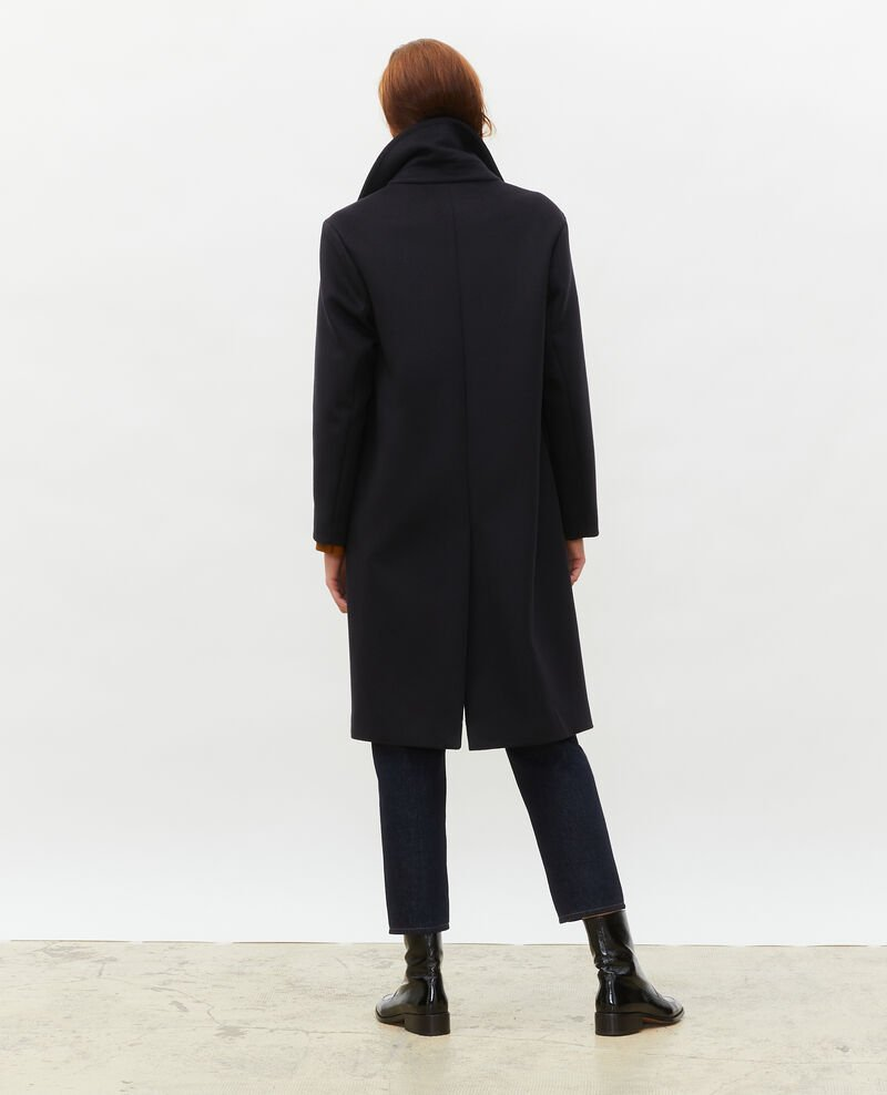 Wool and cashmere boyfriend overcoat Black beauty Maule