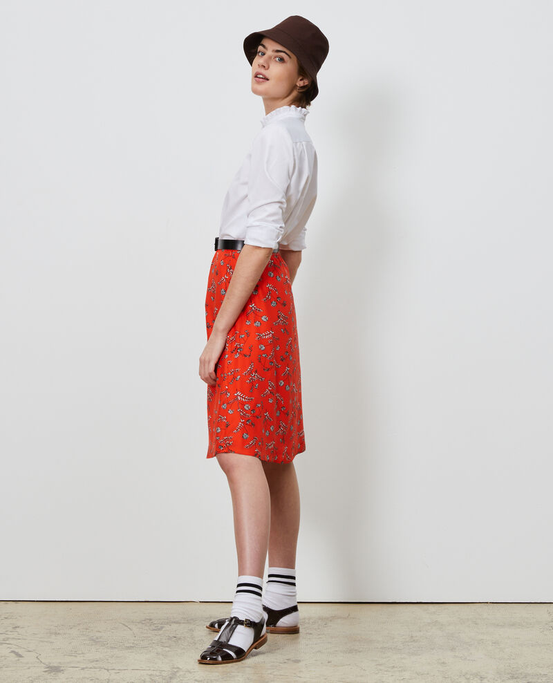 Silk high-waisted skirt Coronille spicy Noimise
