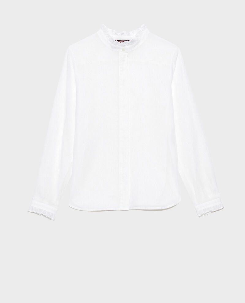 Ruffle neck shirt Brilliant white Nacelle