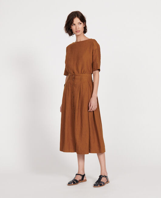Loose linen skirt MONKS ROBE
