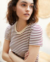 Striped T-shirt Beige/red Ivea