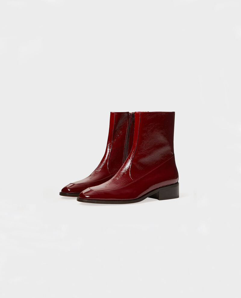 Fitted leather boots Royale red Mamine