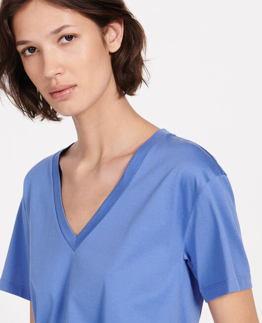 Cotton t-shirt AMPARO BLUE