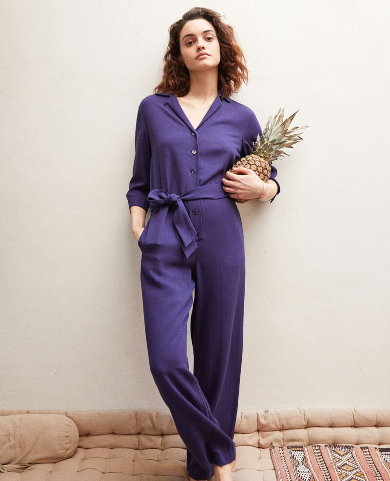 Jumpsuit with lapels Ink navy Ilorance