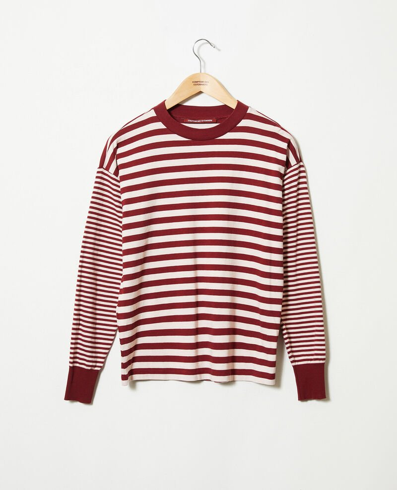 Striped cotton t-shirt Cabernet/hush Jeidala