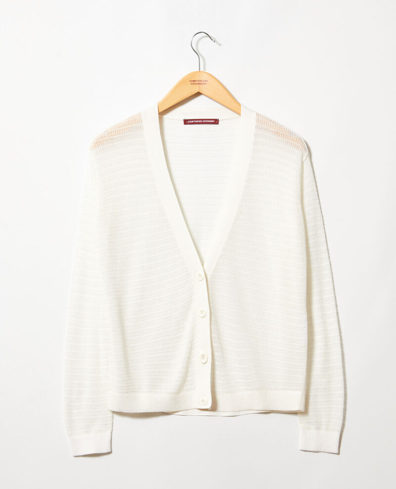 Openwork knit cardigan Off white Icardi
