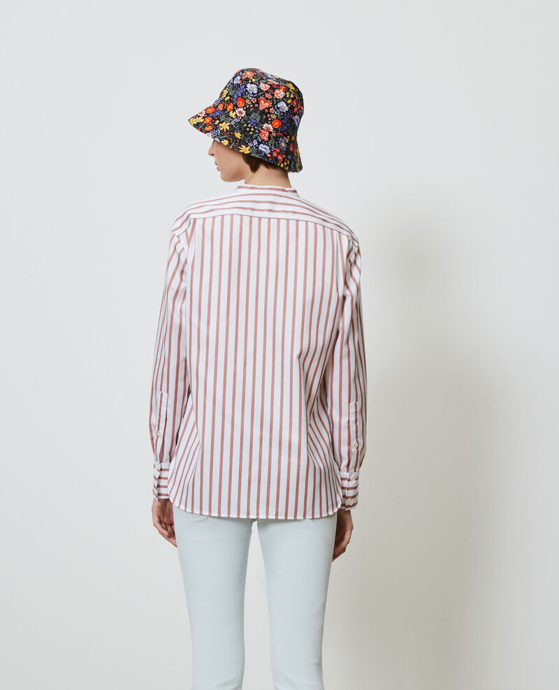 Round neck cotton shirt Deauville stripe Nannion