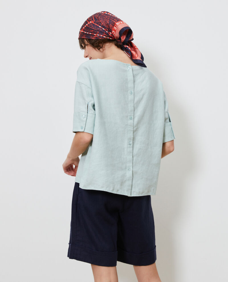 Loose linen top Blue haze Lordat