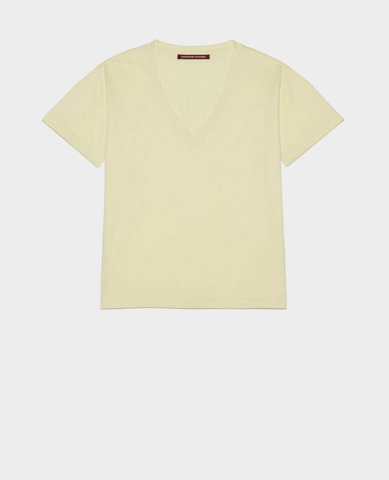 Egyptian cotton t-shirt Tender yellow Laberne