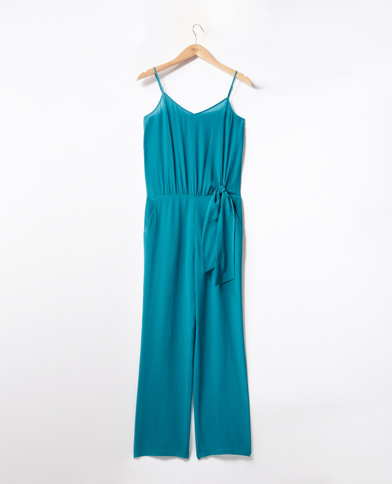 Loose jumpsuit Pacific green Felicie