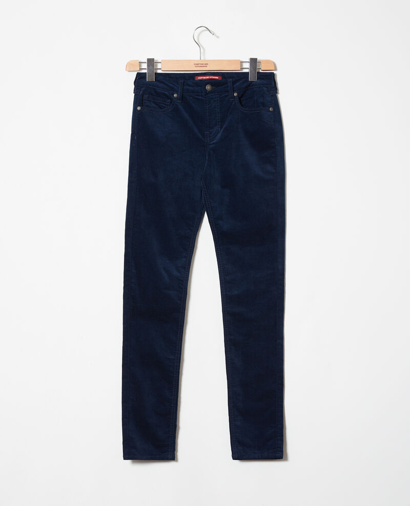 Smooth velvet trousers Medieval blue Juillemin