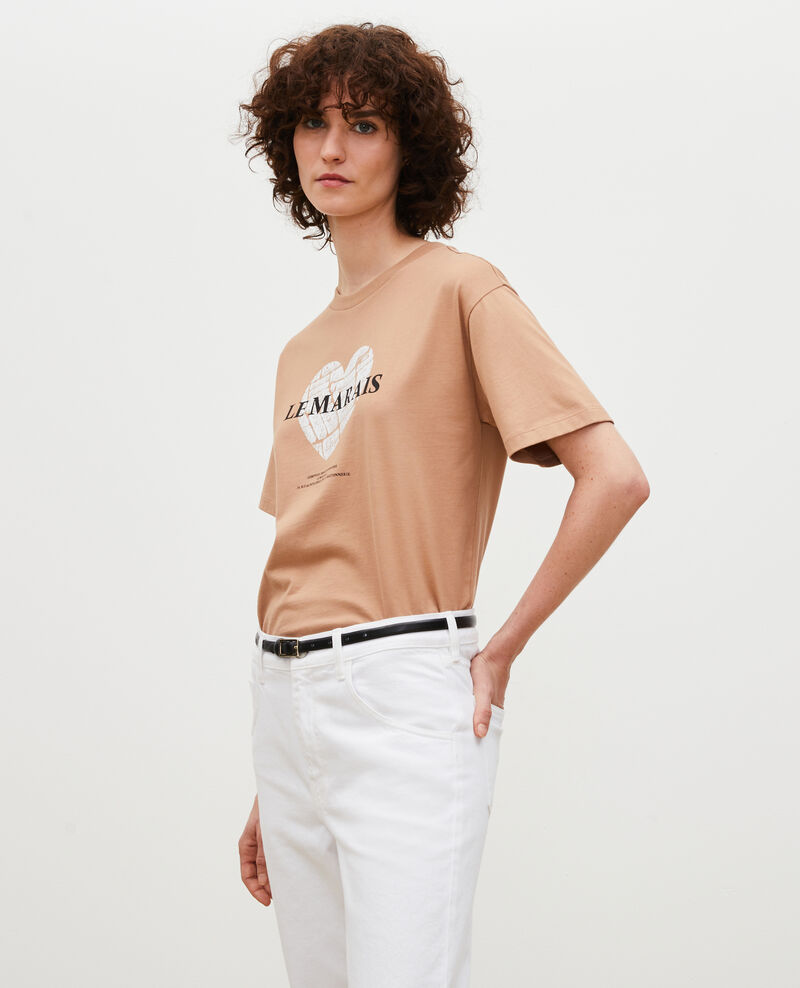 Short-sleeve cotton t-shirt Latte Mia