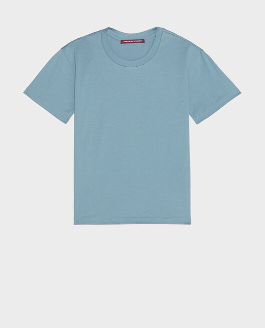 Classic cotton t-shirt BLUESTONE
