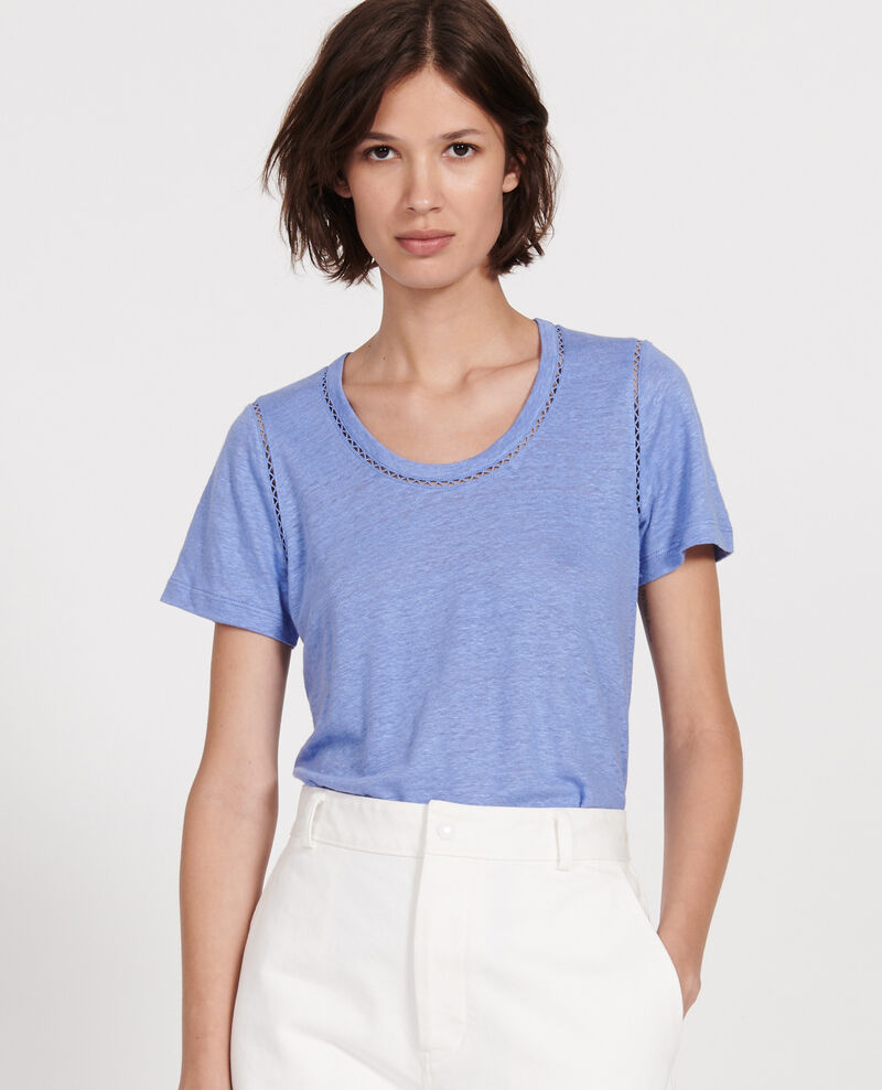 Linen jersey T-shirt Persian jewel Lye