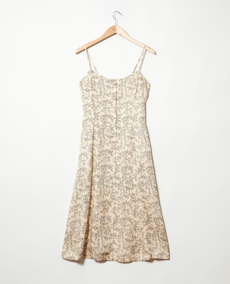 Silk blend dress Bandana light beige Ibriel