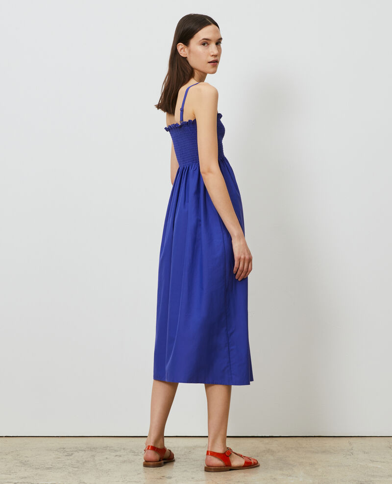 Cotton and silk maxi dress Royal blue Nassandrou