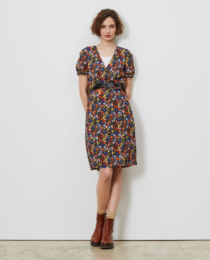 Printed wrap dress Prairie black beauty Nigent