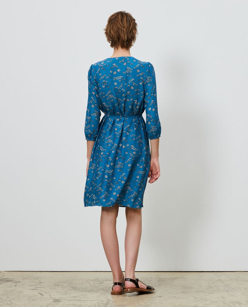 Loose silk dress Coronille faience Novis