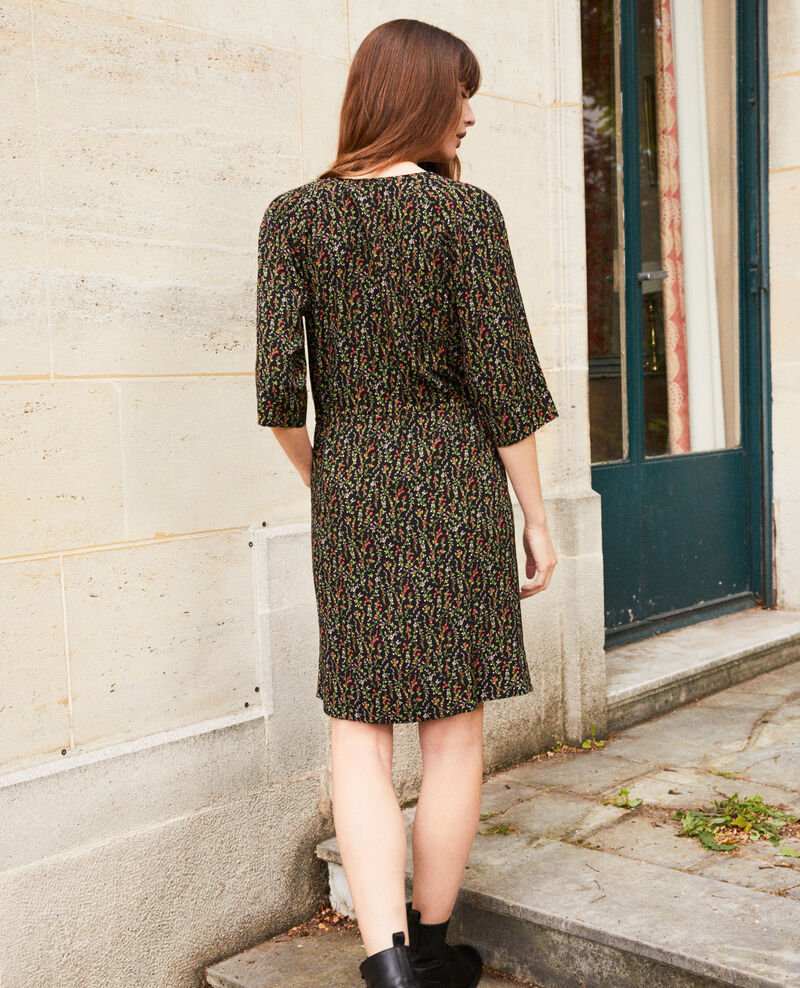 Printed dress Daphne noir Jafete