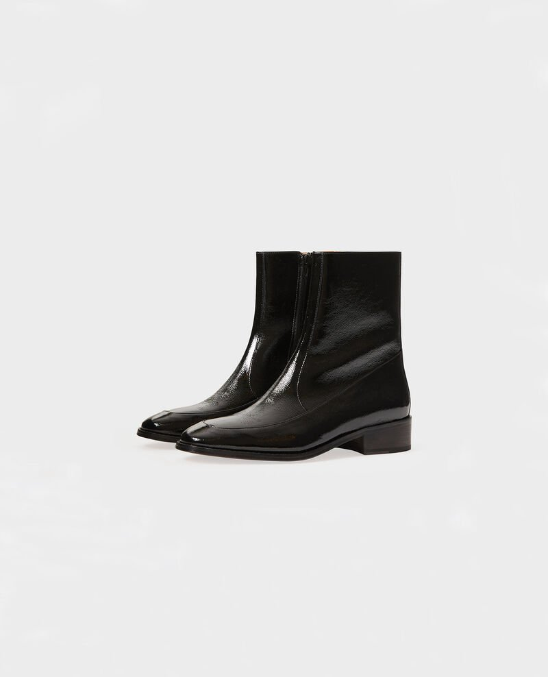 Fitted leather boots Black beauty Mamine