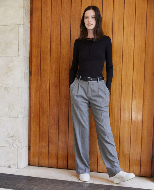 Loose fit trousers Grey