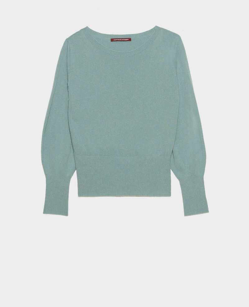 Fine cashmere boatneck jumper Chinois green Manolita
