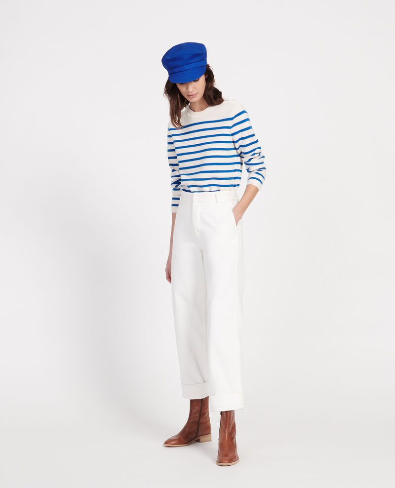 Trousers with pockets Optical white Laora