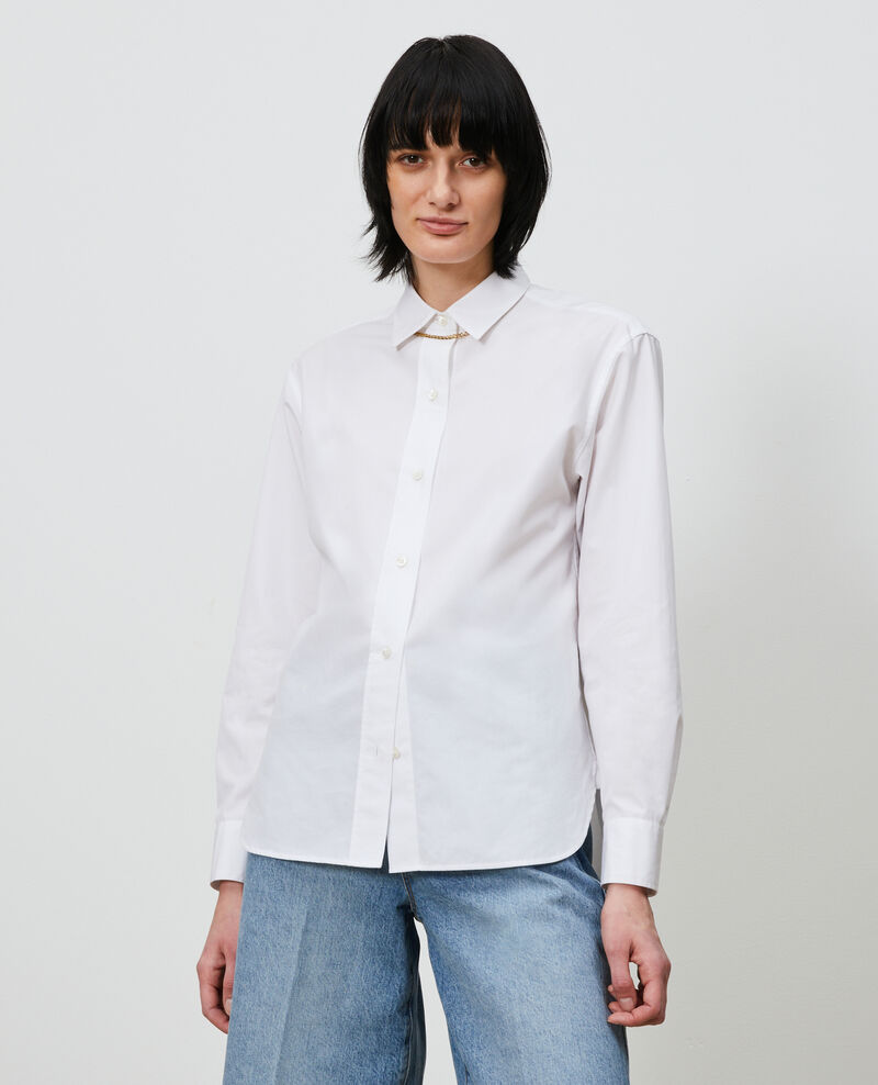 Cotton boyfriend shirt Optical white Lynda