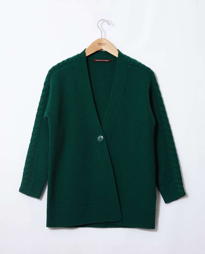 Cardigan with braiding details Evergreen Goatie