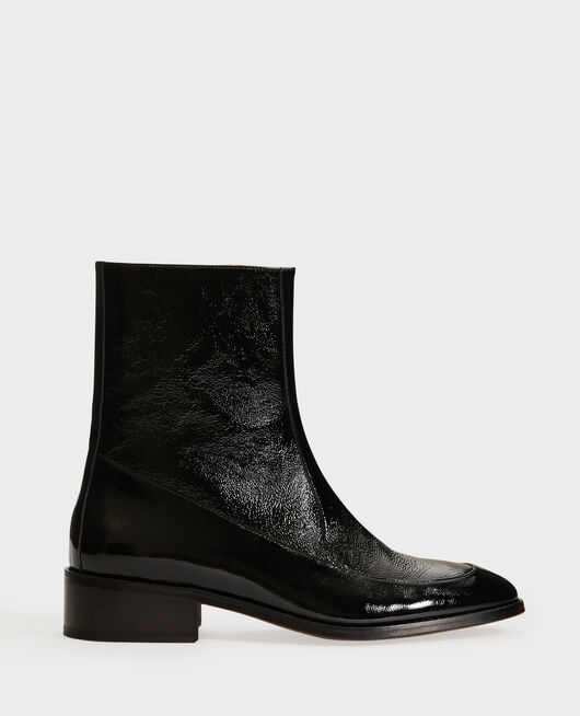 Fitted leather boots BLACK BEAUTY