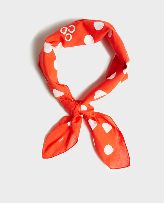 Cotton scarf FIERY RED