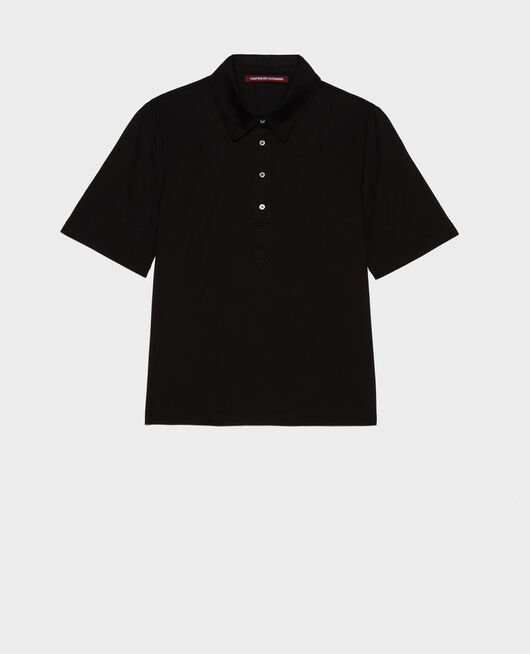 Cotton polo shirt BLACK BEAUTY