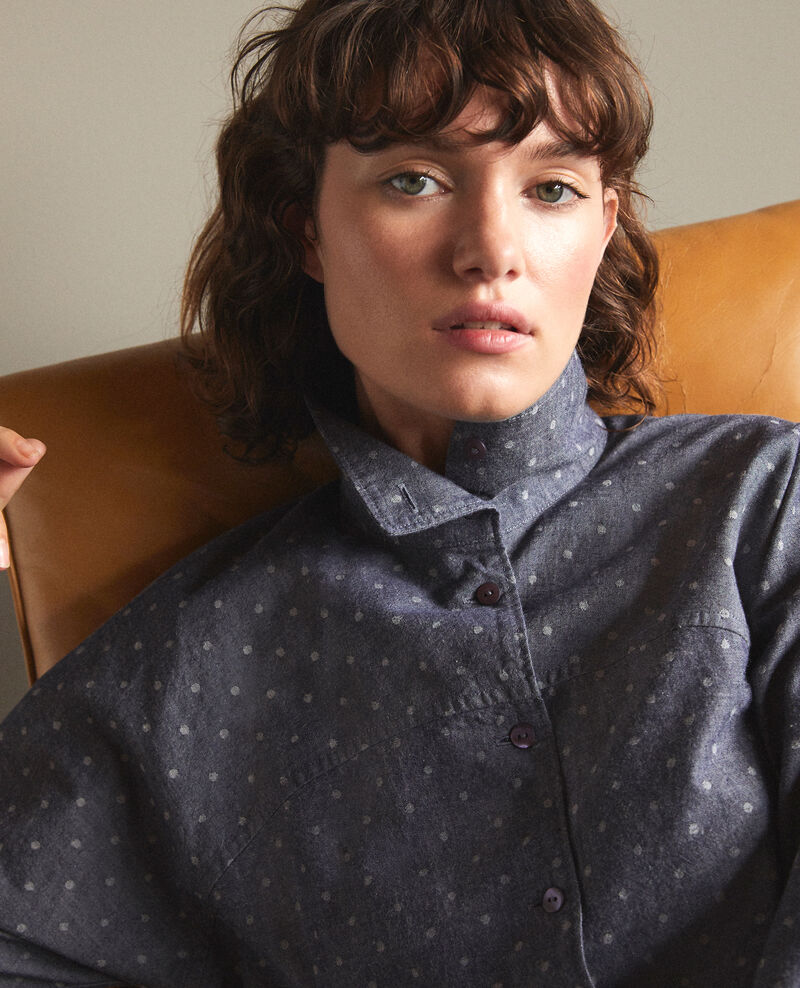 Straight-cut shirt Blue Gosy