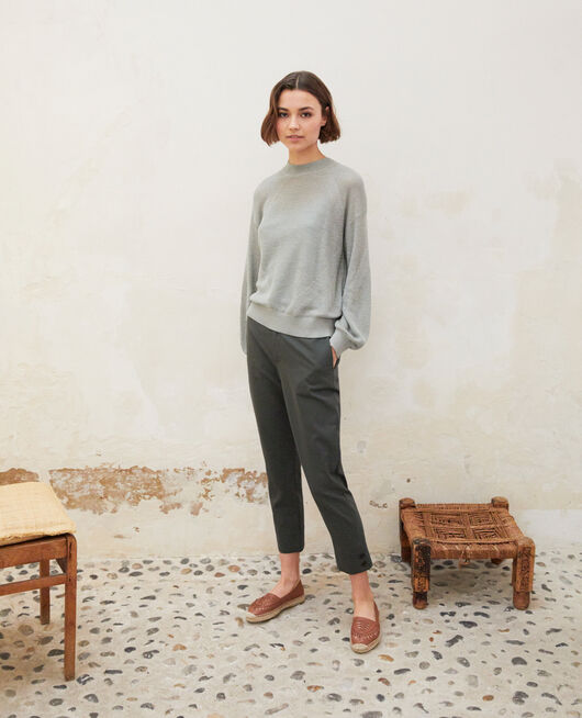Straight-leg trousers OLIVE GREEN
