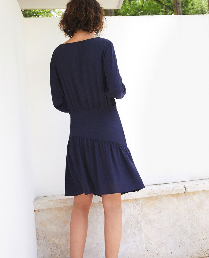 Dress with frill  Blue Fortement