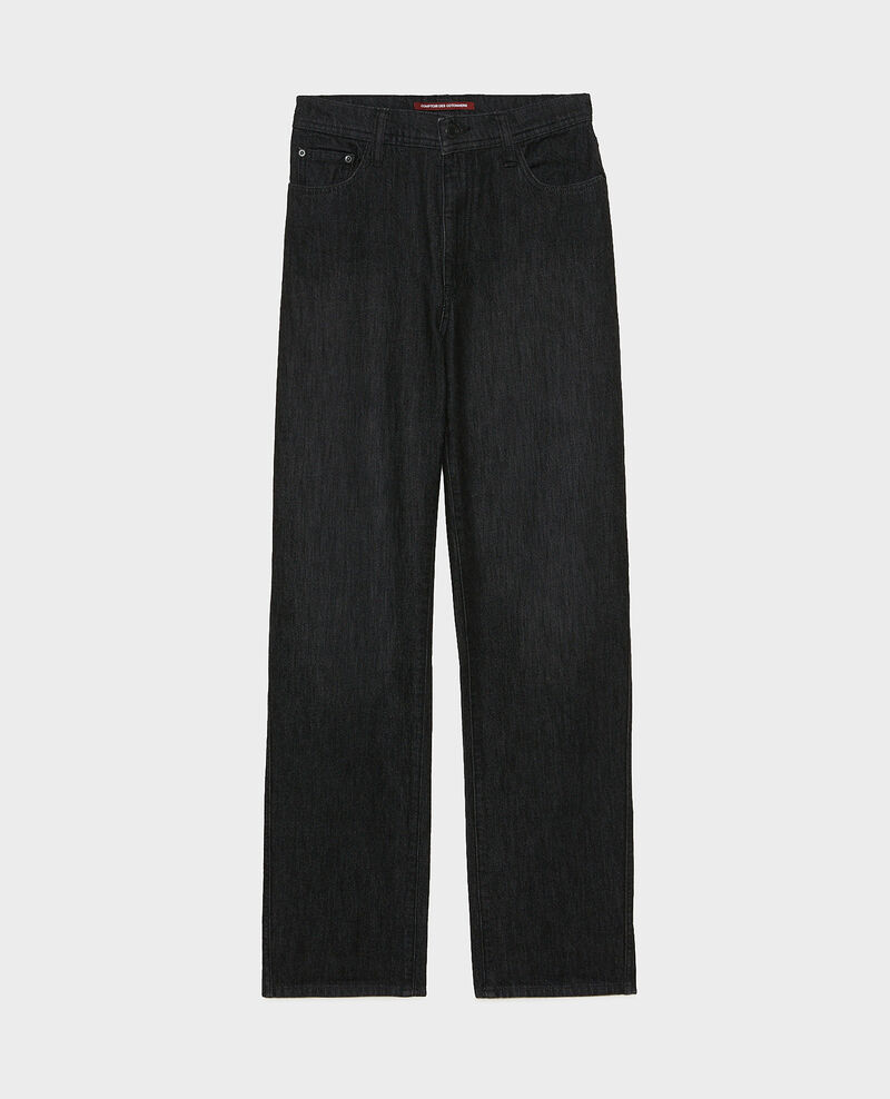 REAL STRAIGHT - High-waisted 5 pocket black jeans Noir denim Merlines